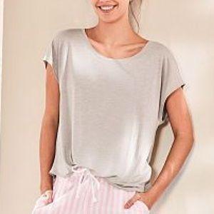 Victoria's Secret Cream Mayfair Pajama Tee